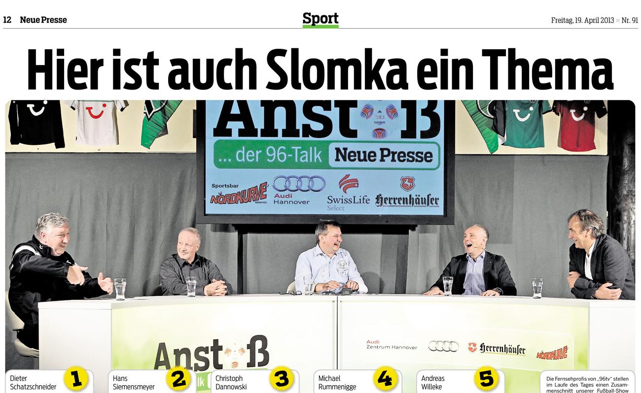 """Michael Rummenigge zu Gast bei """"Anstoß – Der 96-Talk"""""""