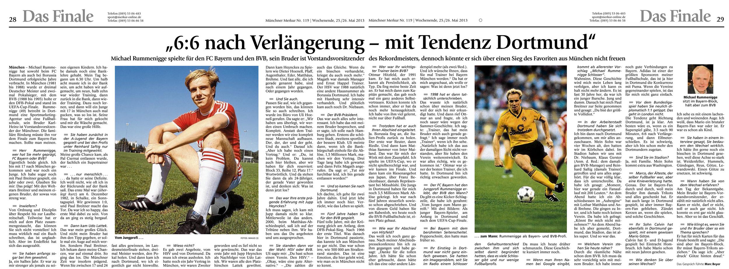 6 zu 6 nach Verlängerung – mit Tendenz Dortmund
