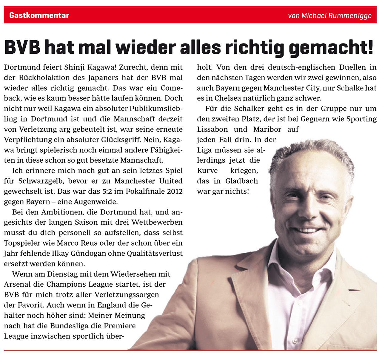 """""""BVB hat mal wieder alles richtig gemacht"""""""