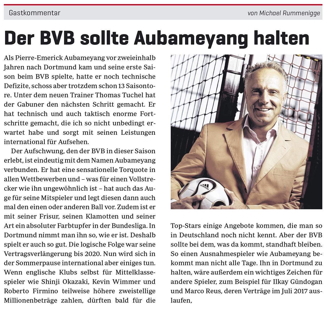 Der BVB sollte Aubameyang halten