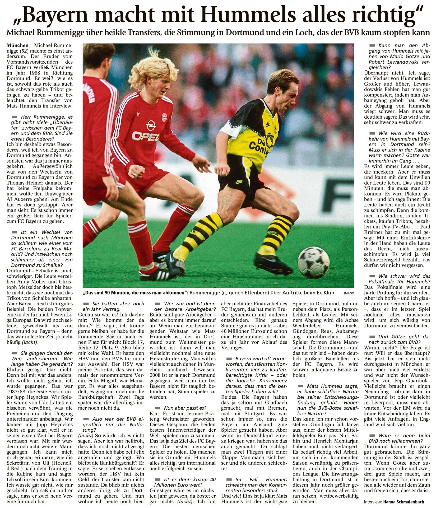 Bayern macht mit Hummels alles richtig