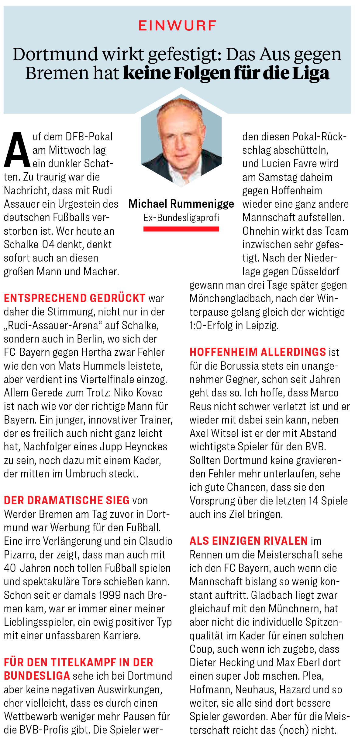 """""""Einwurf"""" im Kicker mit Michael Rummenigge"""