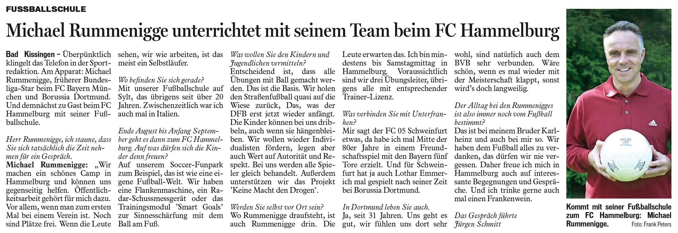 Michael Rummenigge zu Gast beim FC Hammelburg
