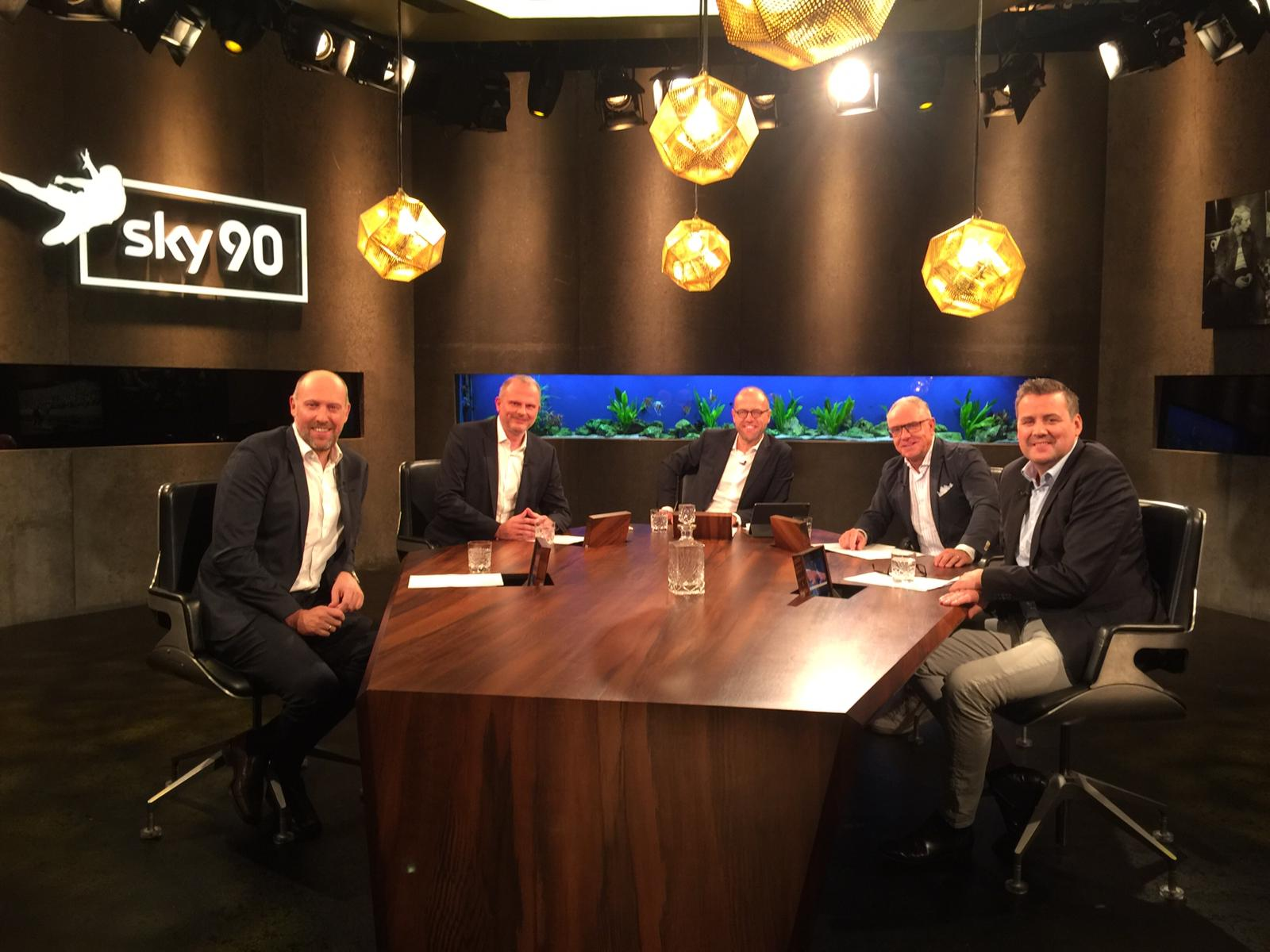 """Michael Rummenigge zu Gast bei """"Sky 90 die Fußball Debatte"""""""