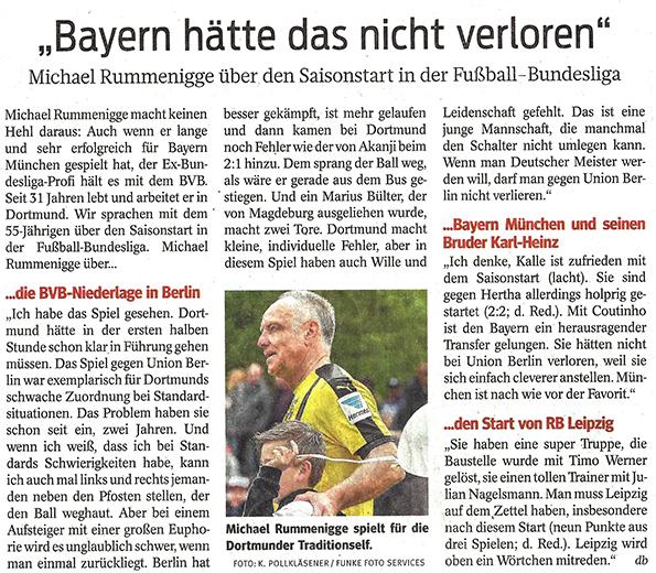 Michael Rummenigge zum Saisonstart 2019/2020 in der Bundesliga