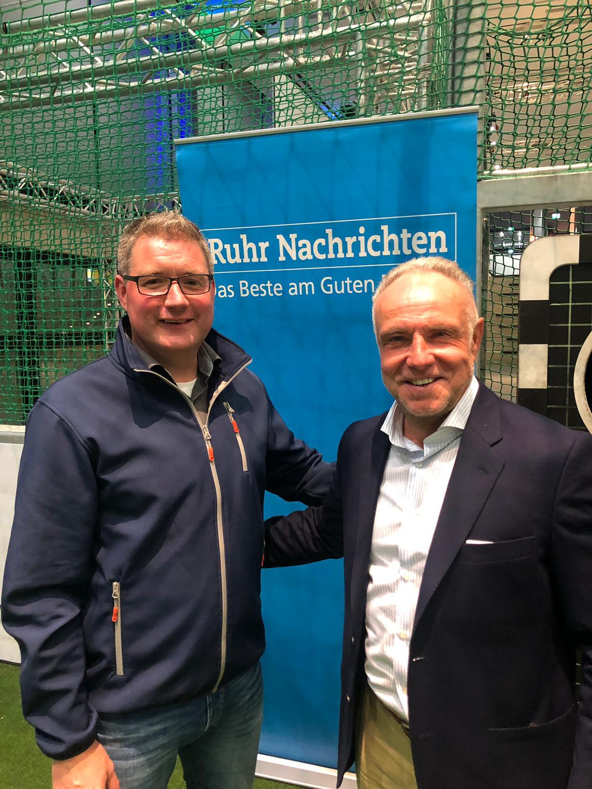 Michael Rummenigge als Gast der Ruhr Nachrichten im Deutschen Fussball Museum