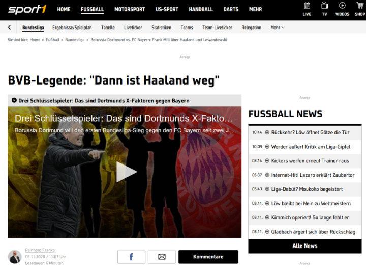 Sport1 Interview mit Frank Mill und Michael Rummenigge zum Classico